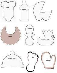 Resultado de imagen para como hacer invitaciones para baby shower en forma de babero