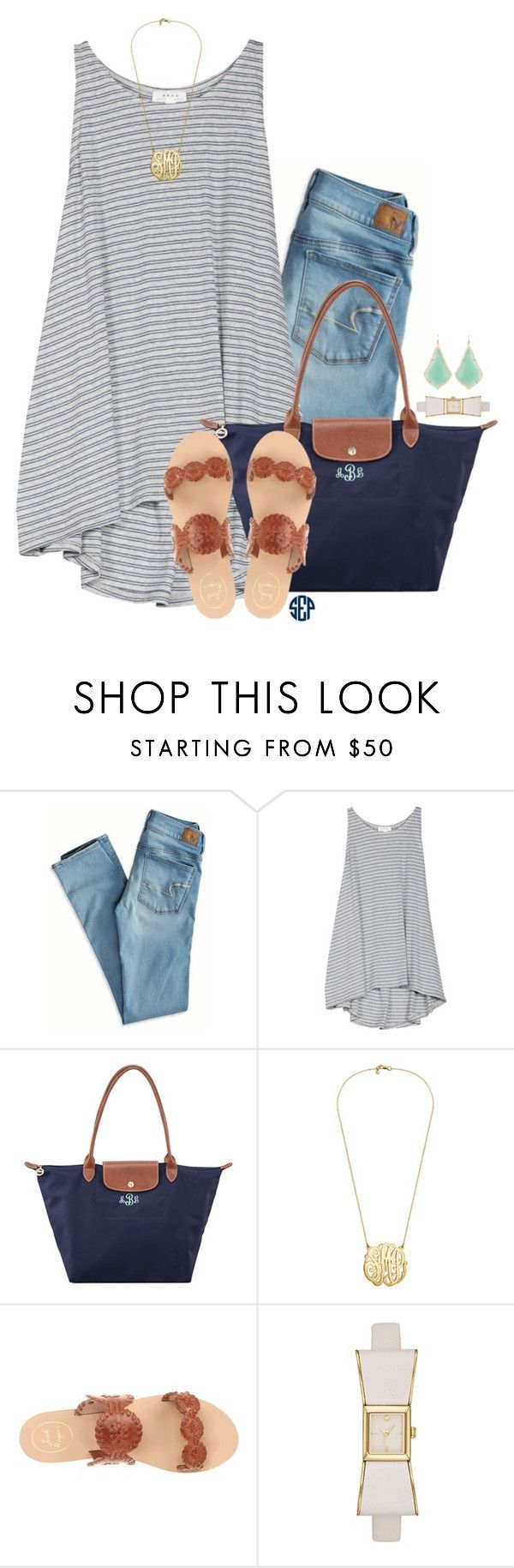 """""""Read the description it is my contest!!!"""" by thedancersophie ❤ liked on Polyvore featuring American Eagle Outfitters, Soft Joie, Longchamp, Jack Rogers, Kate Spade, Kendra Scott and sophiesislandvacation"""