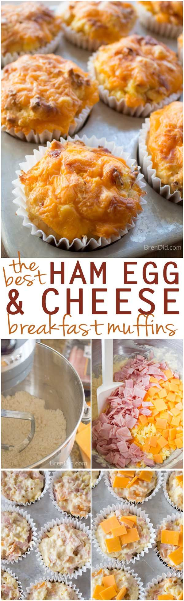 easy breakfast muffins, ham, egg, and cheese biscuits, ham and egg breakfast, easy breakfast, breakfast muffins, Perfect for busy mornings when you don't have time to cook but want to serve a hot, homemade meal. #BeyondTheSandwich ad @Walmart via @brendidblog