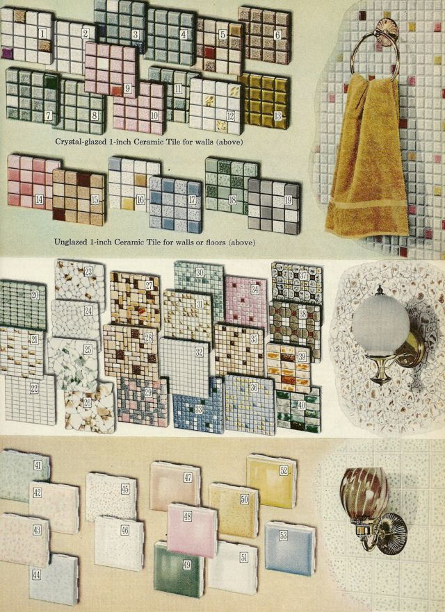 Vintage home decorating tiles paneling 1960s mosaic tiles pinterest - Bazaar home decorating property ...