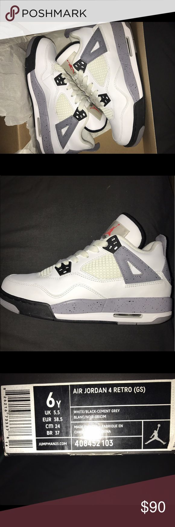 Jordan Retros 4's 2012 (Kids size 6) I am selling these Air Jordan Retro 4's 2012 that are a size 6 in kids. They have only been worn twice. They are very clean with no marks other than the few that is on the bottom Jordan Shoes Sneakers
