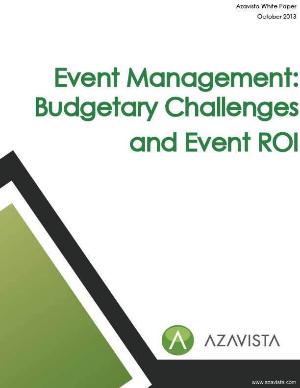 Azavista surveyed 400 event planners from agencies and enterprises around the world. In this survey, Azavista sought to identify the severity of the budgetary and other problems event planners face, as well as  the correlation between these challenges and the measurement of Event Return on Investment (Event ROI). Is measuring Event ROI a common practice? Is it seen as a solution? Are event planners embracing new technologies to help them achieve Event ROI?