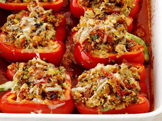 Clean Stuffed Peppers: Clean Eating, Belle Peppers, Peppers Recipes, Low Carb Recipes, Ragu Stuffed Peppers, Food Network Recipes, Ground Turkey, Clean Stuffed Peppers, Stuffed Belle