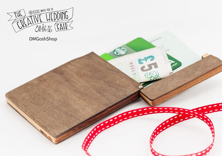 OMGoshShop - The Creative Wedding Fair by Etsy Manchester - Wooden Wallet - Handmade Wallet