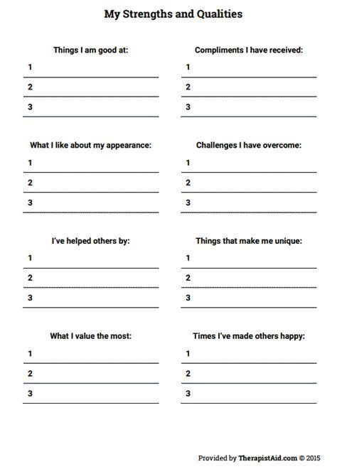 Printables. Self Esteem Worksheets For Kids. Messygracebook ...