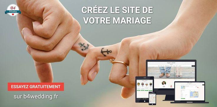 Créez le site web de votre #mariage avec #B4Wedding  #wedding #mariage #love #amour