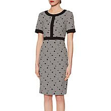 Buy Gina Bacconi Agatha Dogtooth Spot Dress, Black/White Online at johnlewis.com