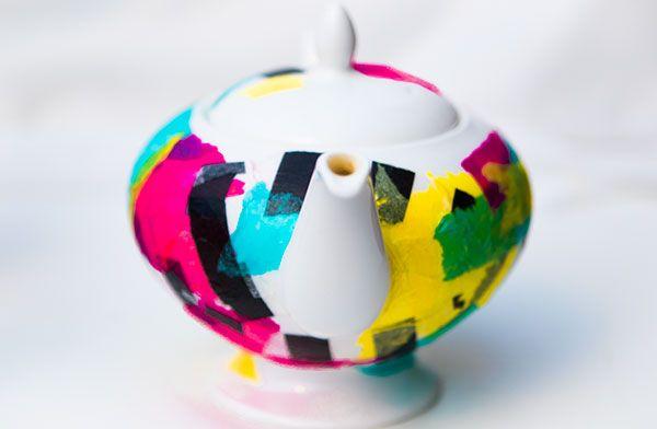 DIY Tissue paper tea pot