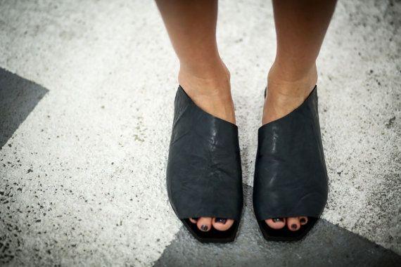 Sale 10% Blue Sandals Leather Sandals Handmade Sandals by abramey
