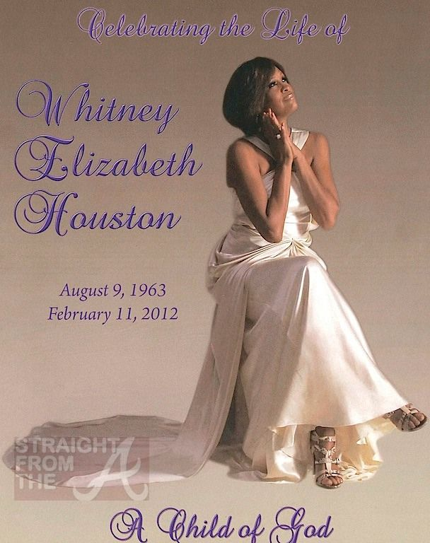 "Whitney Houston was honored by her family and friends Saturday morning (February 18, 2012) in an invitation only ""homegoing ceremony"" held in New Jersey's New Hope Baptist Church.…"