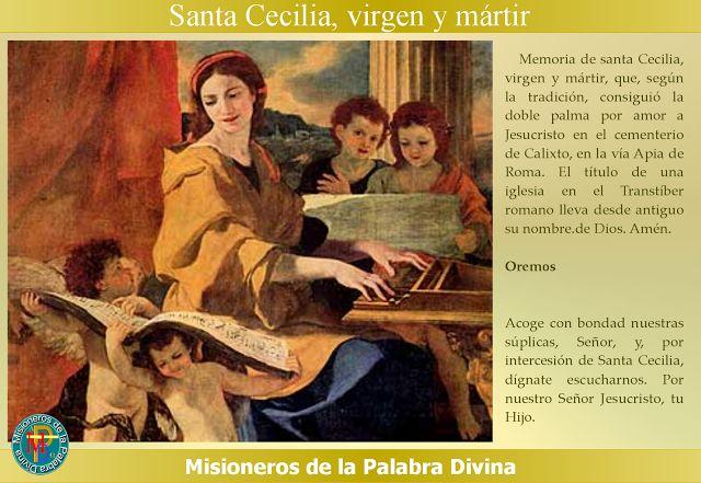 MISIONEROS DE LA PALABRA DIVINA: SANTORAL - SANTA CECILIA