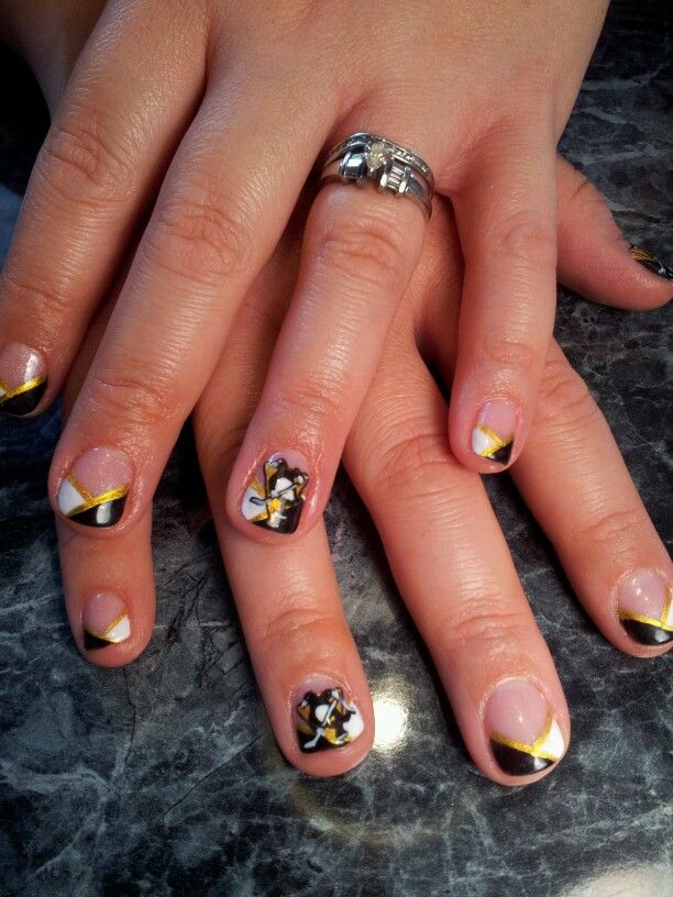 Pittsburgh. Penguins. Nails.