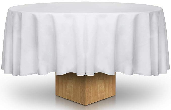 Utopia Kitchen Pack Of 20 90 Inches Round Tablecloth 100 Percent Polyester White Colour Prof 90 Inch Round Tablecloth Table Cloth White Round Tablecloths