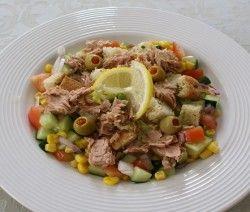 insalata di tonno e cetrioli