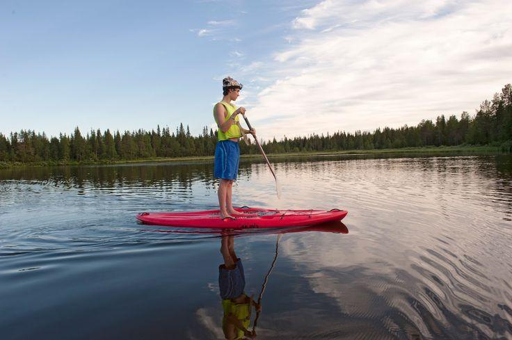 Suppausta Suomen suvessa!  Rukajärvellä hienot maisemat, Iisakki Villagessa.