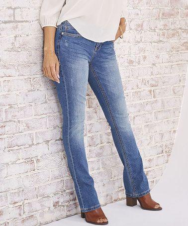 Look what I found on #zulily! Hermosa Big Stitch Rocker Slim Jeans #zulilyfinds