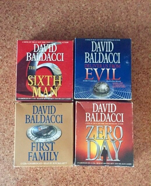 BALDACCI AUDIO CD THRILLERS-ZERO DAY-FIRST FAMILY-SIXTH MAN-DELIVER US FROM EVIL