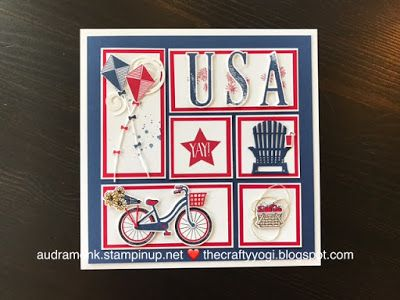 the crafty yogi: Red, White, and Blue Framed Art