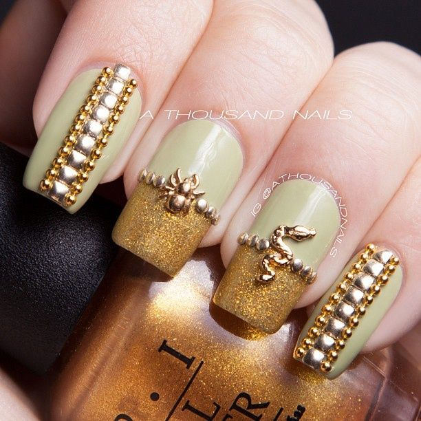 213 best Nails - Gold! images on Pinterest | Fingernail designs ...