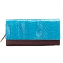 blue fashion womens bi-fold leather wallet purse lady clutch handbag $123.55 cow leather: Bi Folding Leather, Blue Fashion, Blue Brown, Brown Fashion, Purses Lady, Clutches, 123 55 Cows, Wallets Purses, Women Purses