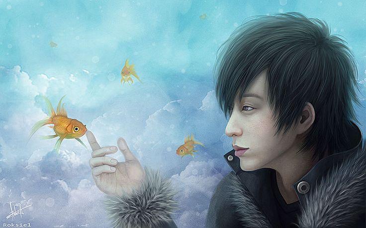 Goldfish by Roksiel.deviantart.com on @DeviantArt