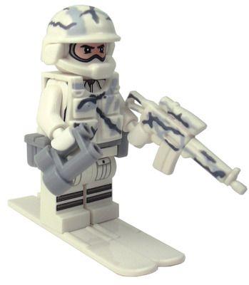 Custom LEGO Military Soldier Minifigure Model Soldiers US Modern Combat Sub Zero Commander