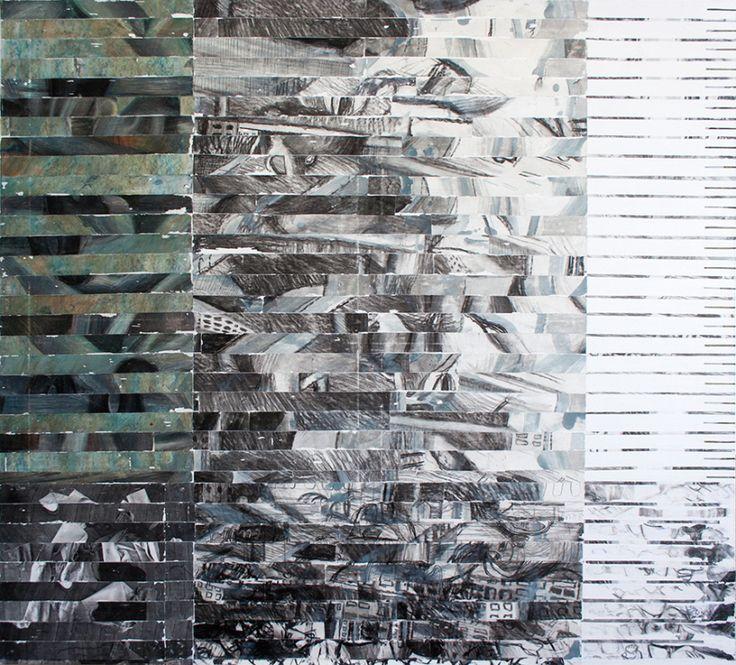 artist MAIA ȘTEFANA OPREA www.maia-fine-art.com, TRANSMOGRAFIE 3, carbune, tuș, acrilic  pe pânza, 115 x 103, 2015 /  TRANSMOGRAPHY 2, charcoal, ink, acrilic on canvas, 115 x 103, 2015