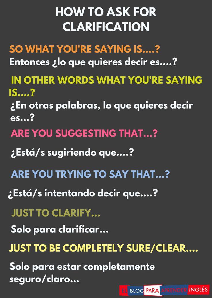El Blog para Aprender Inglés   Cómo pedir que te aclaren algo en inglés