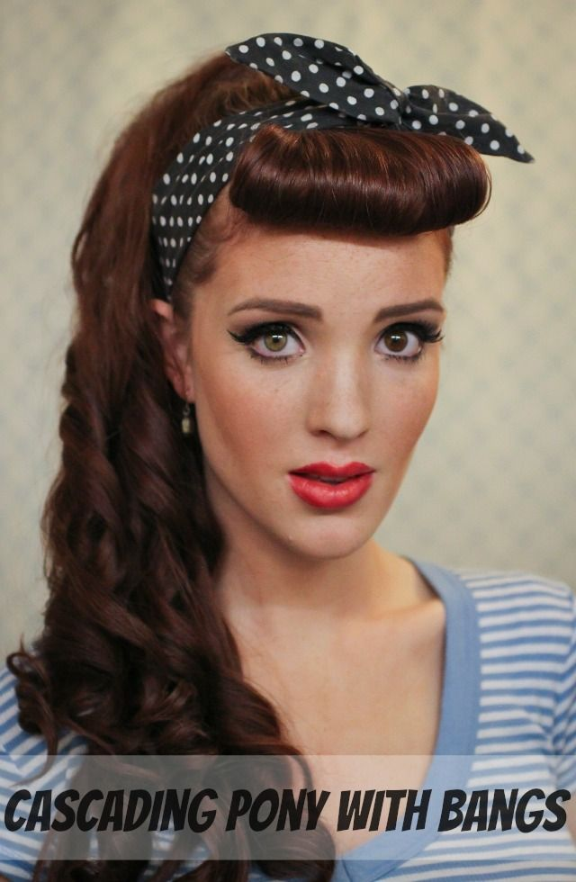 The Freckled Fox : Modern Pin-up Week: #1 - Cascading Pony with Bangs