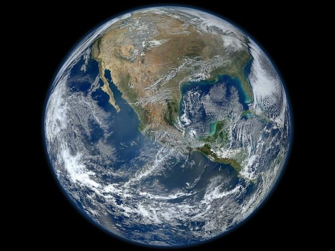 New Satellite Takes Spectacular High-Res Image of Earth // click through to see 8000x8000 image!