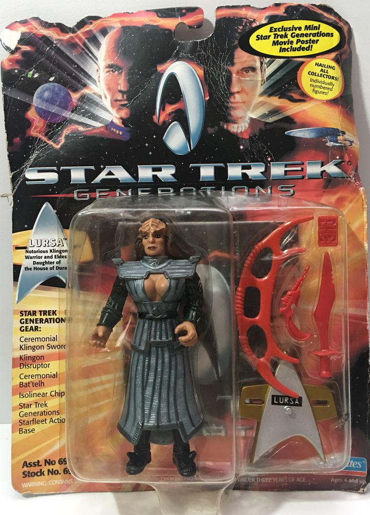 We always have the hottest Vintage Toys at The Angry Spider.  Now available: (TAS036040) - 199...  Check it out here: http://theangryspider.com/products/tas036040-1994-playmates-star-trek-generations-lursa?utm_campaign=social_autopilot&utm_source=pin&utm_medium=pin