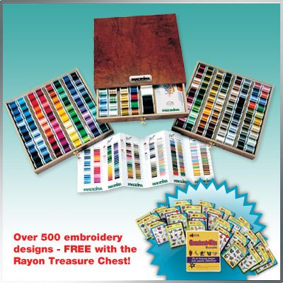 Madeira Thread Treasure Chest | eBay  +500 embroidery designs 379.00