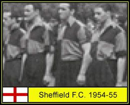 Sheffield FC of England line up in 1954-55.