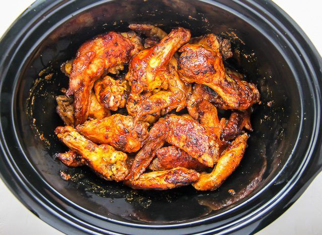 Juicy and flavorful chicken wings made in the slow cooker. This recipe is as easy as it is delicious.