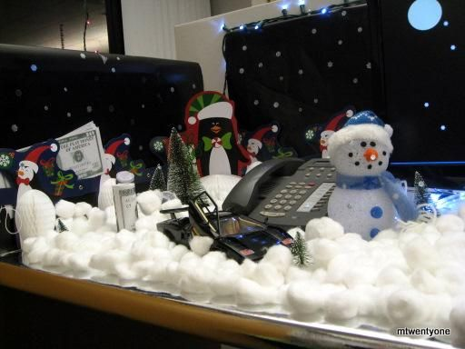Cubicle Xmas Decoration For Company