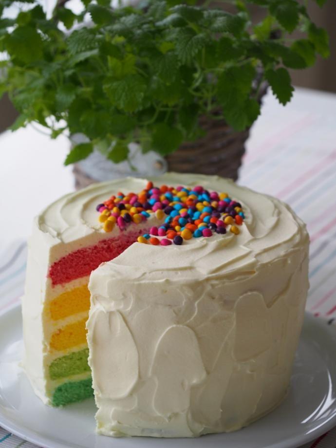 Tęczowy tort | Blog Kulinarny Pani Tereska
