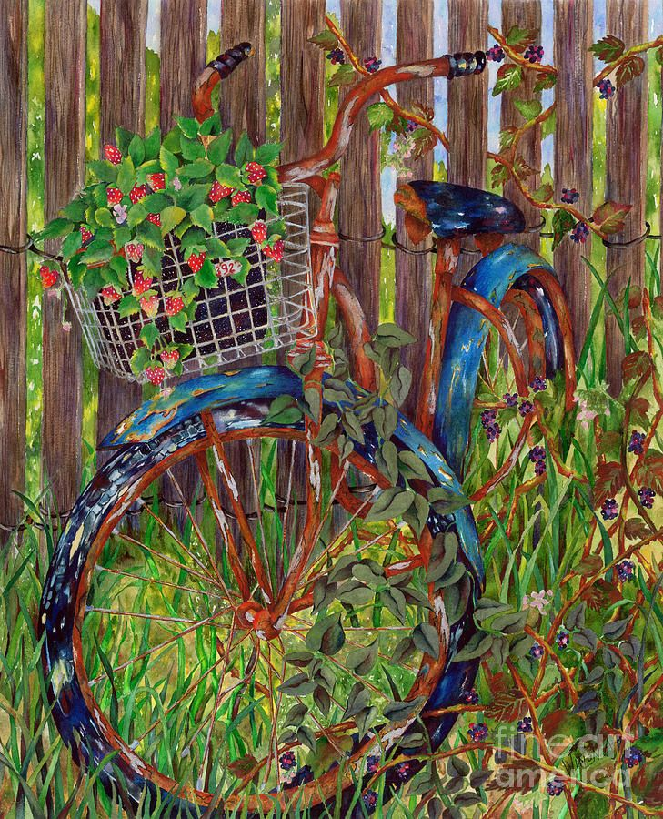 Acrylic Paintings Of Bicycles