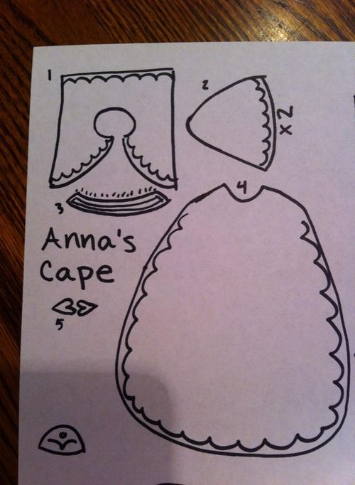 Anna's cape pattern reference