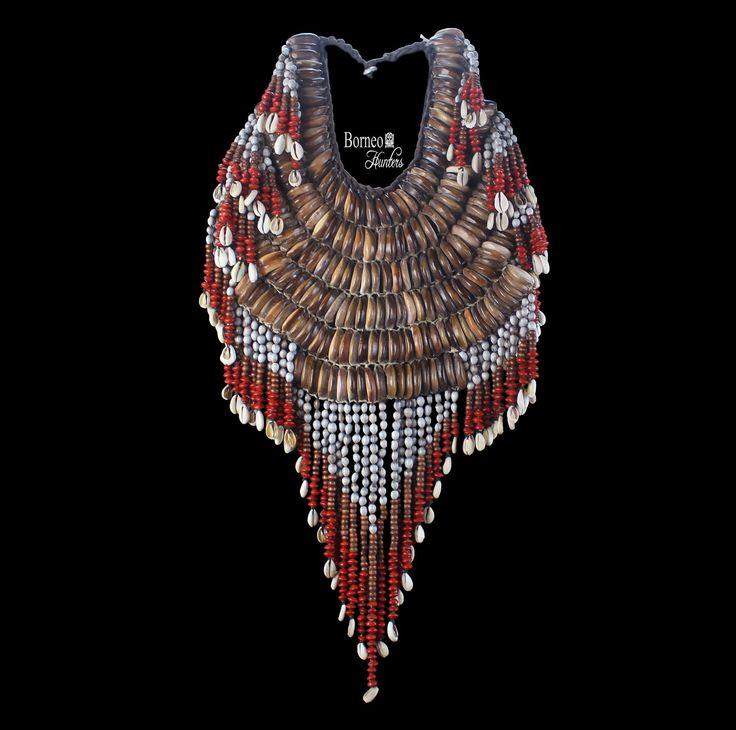 Vintage Papua Bridal Necklace.Shells Beads Seeds Wealth