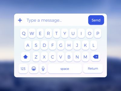 [FREE] Mobile Keyboard UI (Sketch)