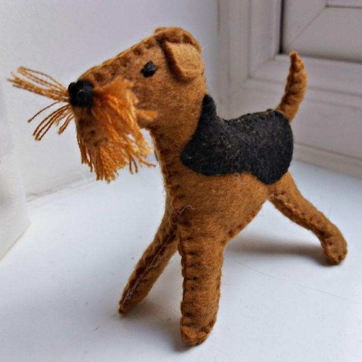 Cute little handmade felt dog