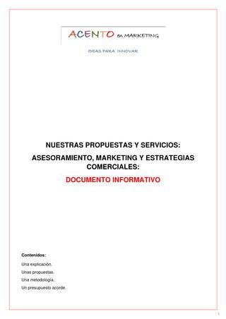 ACENTO EN MARKETING: DOCUMENTO INFORMATIVO