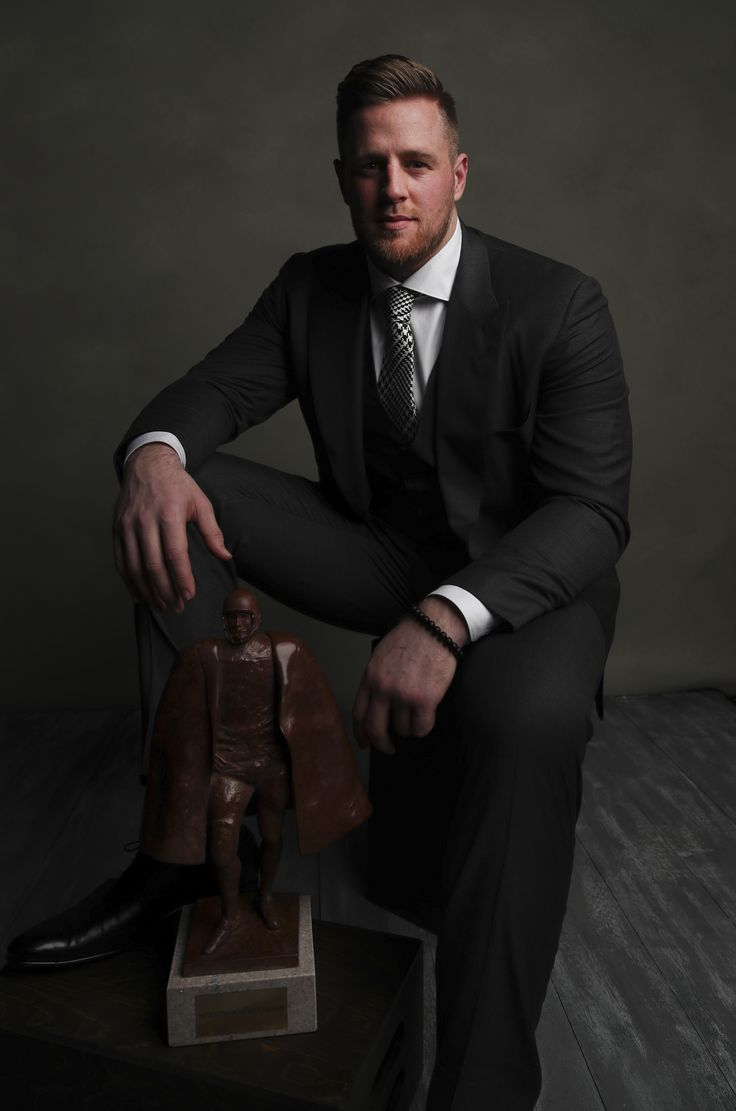 Introducing your Walter Payton Man of the Year: Houston Texans DE J.J. Watt. Watt raised over $37 million for the people of Houston. (AP/Liebenberg)