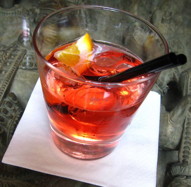 The Bicicletta is an Italian aperitif made with dry white wine, Campari, and soda. It's a great summer time cocktail because it's so refreshing.