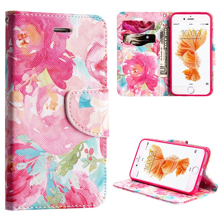 Apple iPhone 6/6S Watercolor Floral Flip Wallet Case