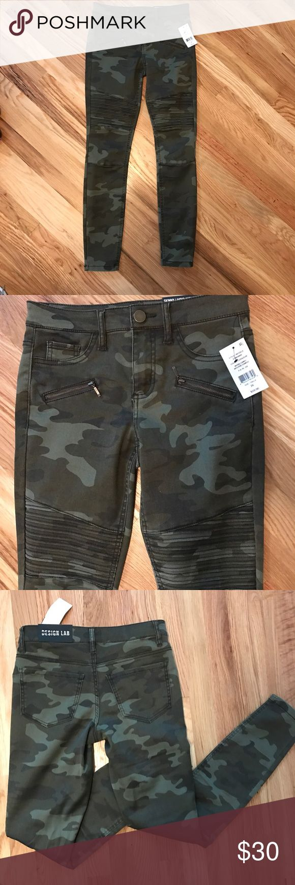 NWT, Camo Skinny Pants Lord & Taylor (Design Lab) camp pants, with cute details Lord & Taylor Pants Skinny