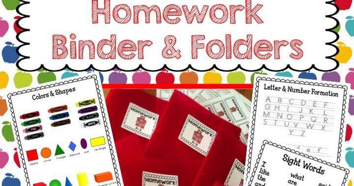 kindergarten homework, homework folder, homework binders