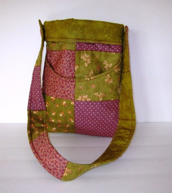 Quilted Patchwork Purse by GladysandAbner on Etsy,