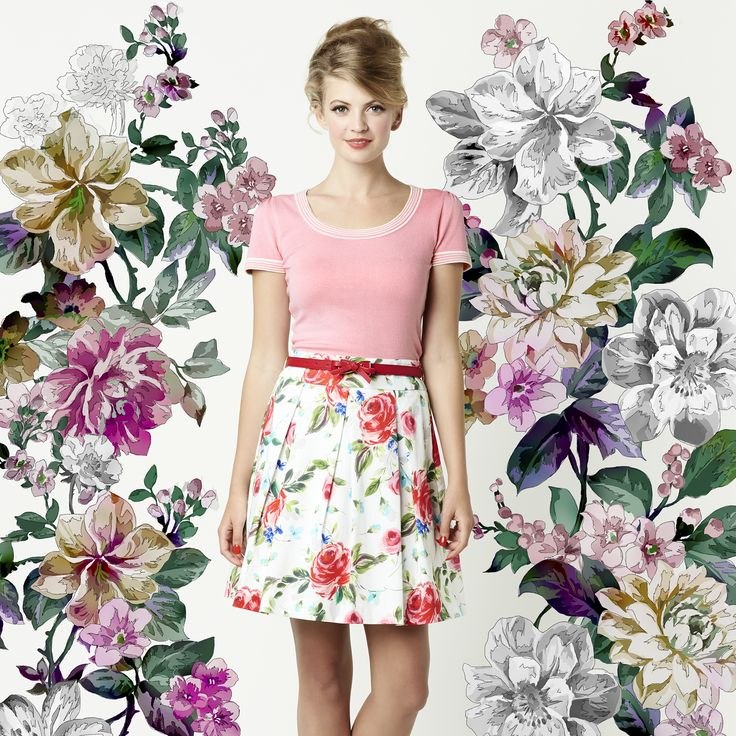 The Maggie Top & Rouge Rose Skirt