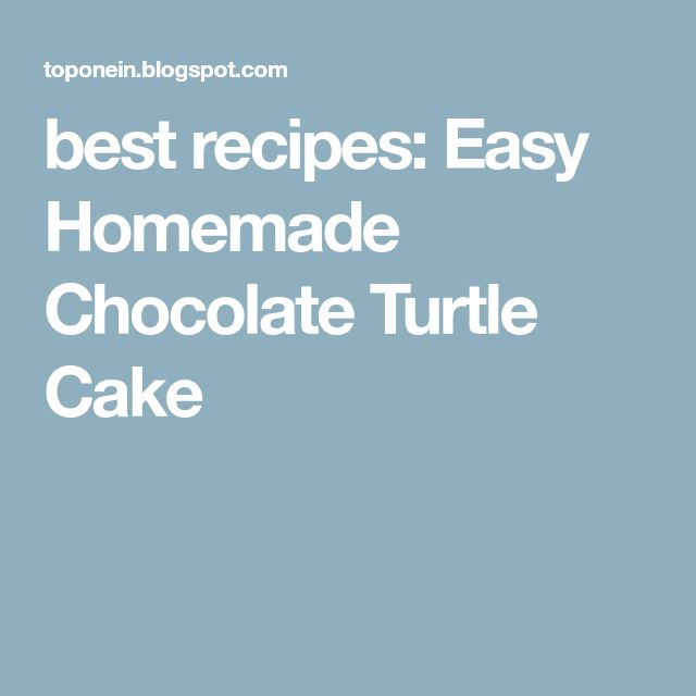 best recipes: Easy Homemade Chocolate Turtle Cake